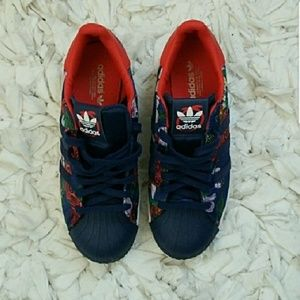 Adidas Shoes - Authentic Floral Adidas Sneakers